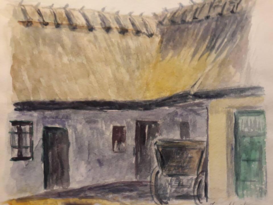 Pederstrup i Ballerup, akvarel