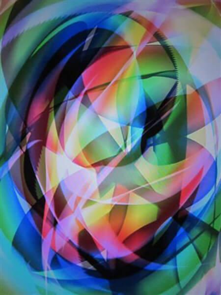 At male med lys, malet på Ipad i frihånd