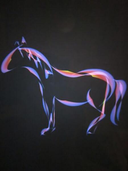 Hest. malet på Ipad i frihånd