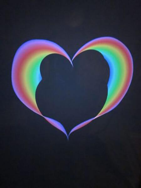 Hjerte, malet på Ipad i frihånd