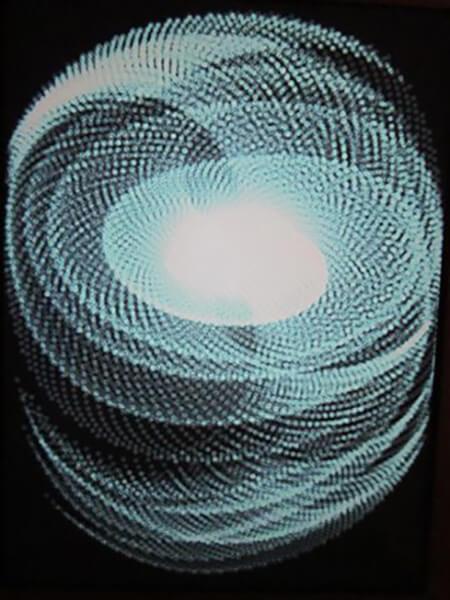 Spiral, malet på Ipad i frihånd