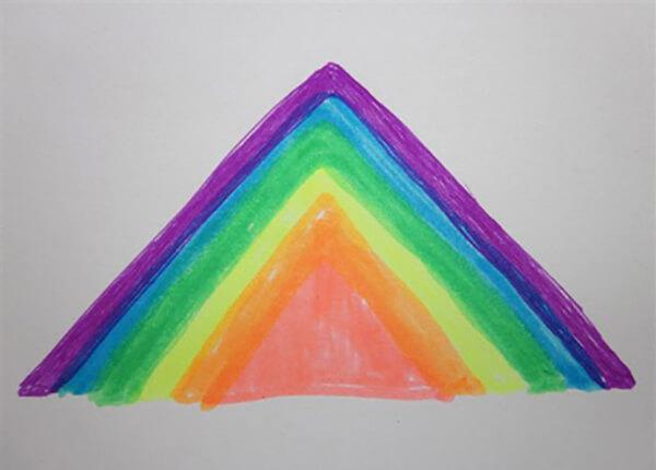 Pyramide, spektrets farver