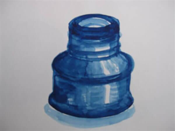 Blækhus af Inger Harbom, vandfarve