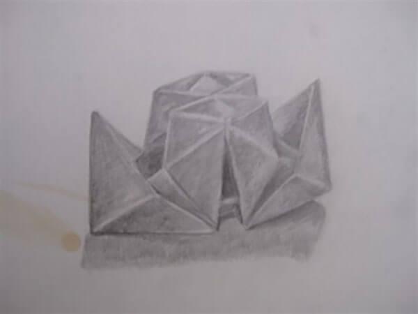 Foldet papir af Inger Harbom, blyant