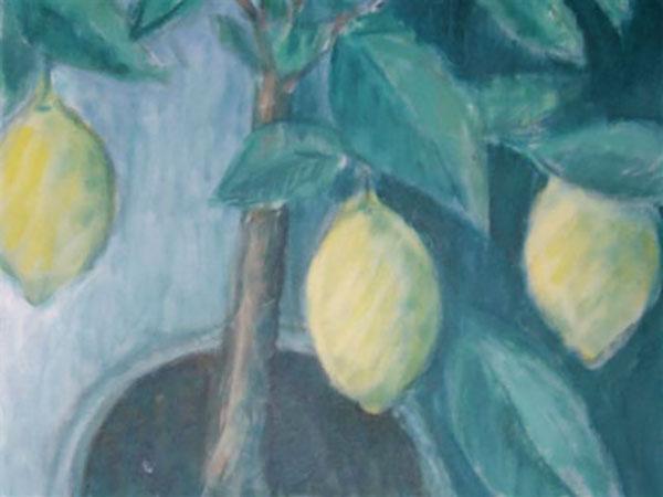 Mit citrontræ, akryl, ca. 2007