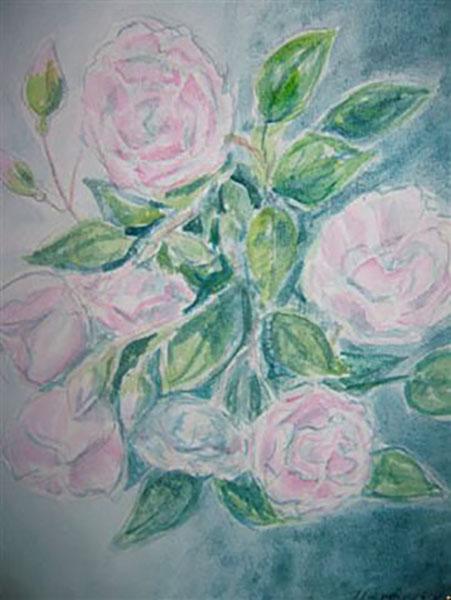 Roser, akvarel, ca. 2004