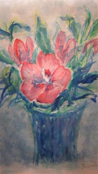 Hibiscus, akvarel, ca. 2007