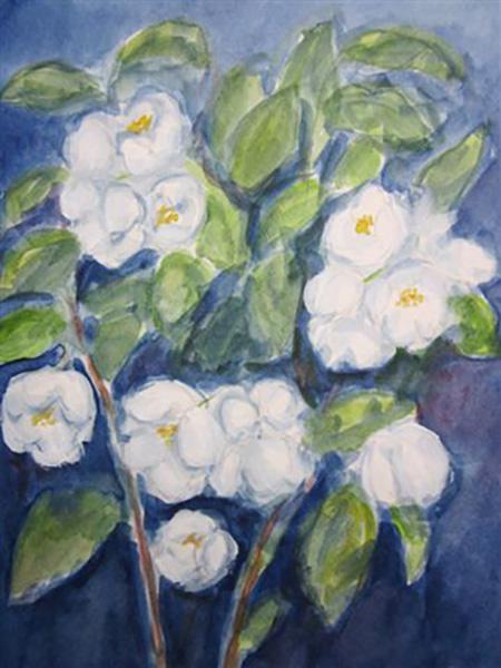 Jasminer fra min have, akvarel, ca. 2009