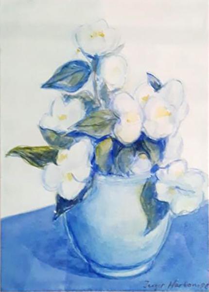 Jasminer, akvarel, ca. 2004