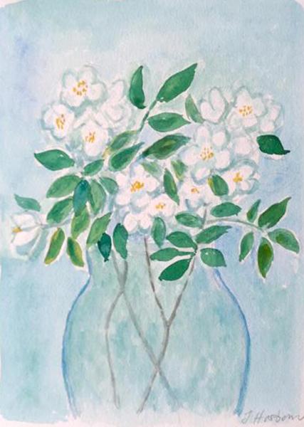 Jasminer, akvarel, 2019