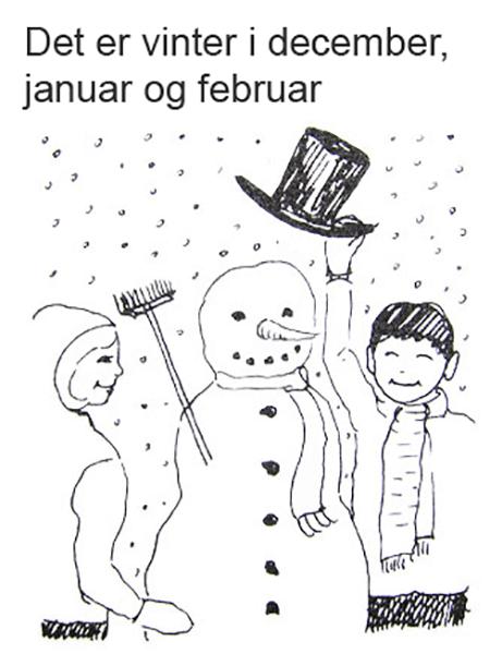 Vinter, Børn bygger snemand
