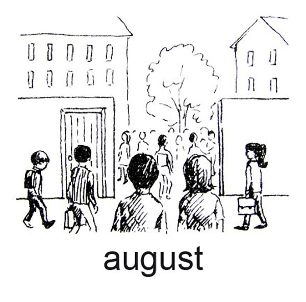 August, Sensommer og skolen starter igen