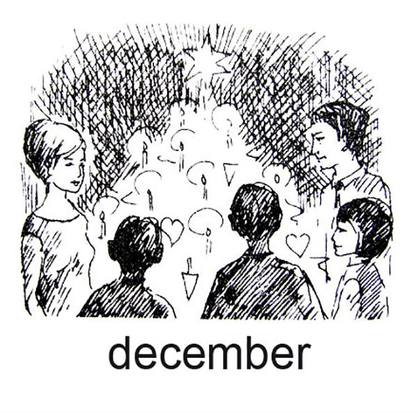 December, Jul - og vi danser om træet