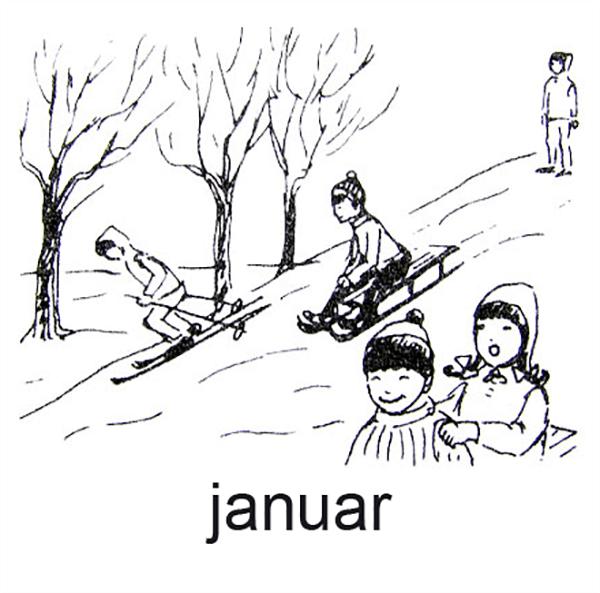 Januar, Kælkende børn
