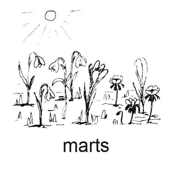 Marts, Forårsblomsterne dukker frem