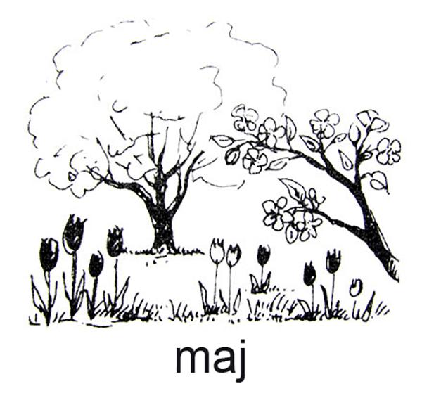 Maj, Alle træer springer ud og alt blomstrer