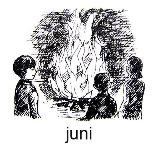 Juni, Det er sommer og Sankt Hans-bålet blusser