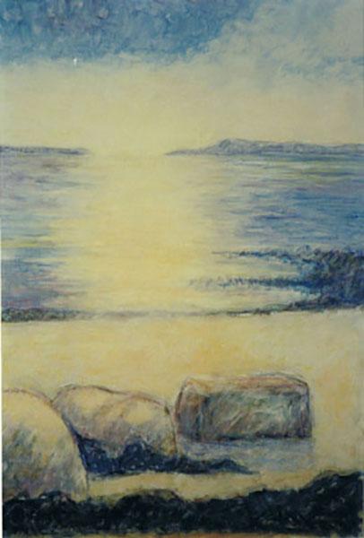 Isefjord, akrylmaleri, 1999
