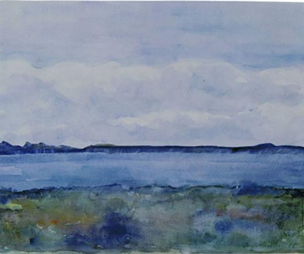 Kystlandskab, akvarel