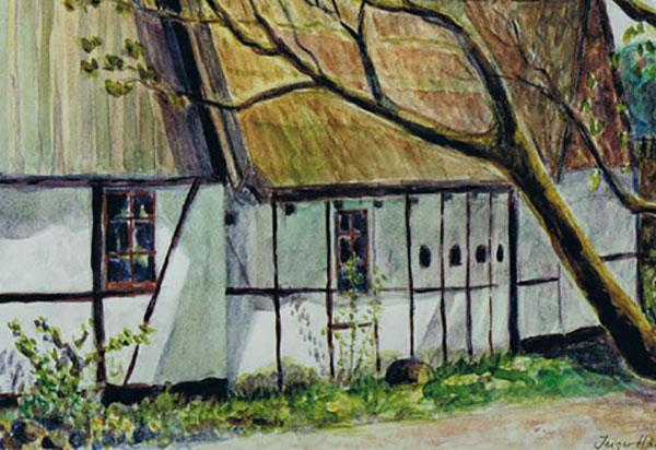 Pederstrup i Ballerup, live,, akvarel, ca. 2004