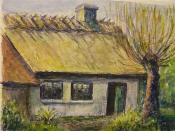 Frilandsmuseet, live, akvarel, ca. 2006