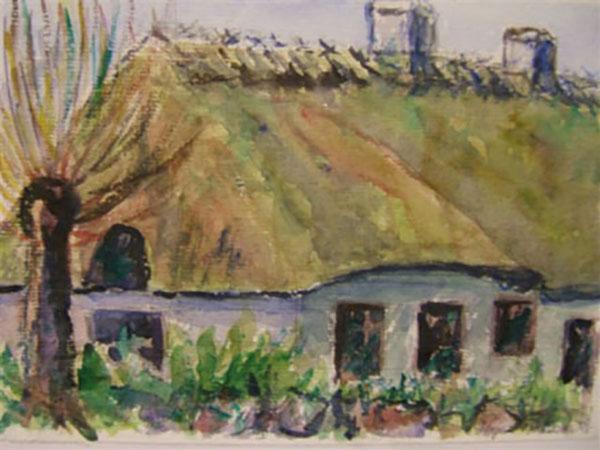 Frilandsmuseet, live, akvarel, ca. 2004