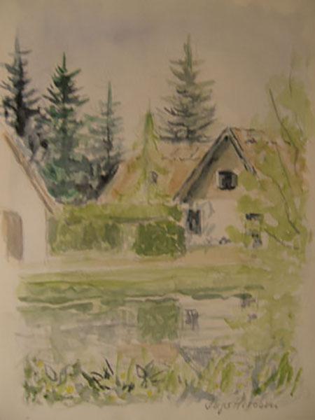 Pederstrup i Ballerup, live, akvarel, ca. 2004
