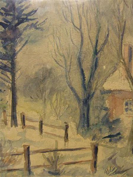 Kårup, efterår, akvarel, ca. 1976