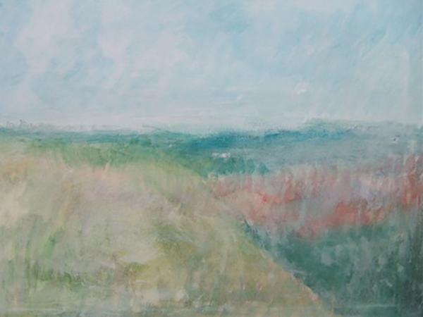 Drømmelandskab, akryl, ca. 2016