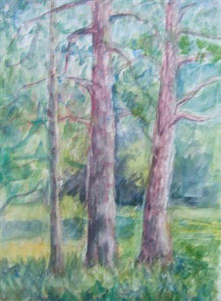 Jyderup Skov, live, akvarel, ca. 2006