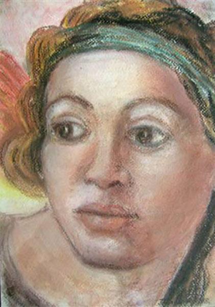 Michelangelo fra Det Sixtins, pastelkridtke Kapel,