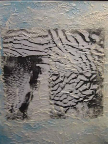 Bølgernes tegn i sandet, decoupage