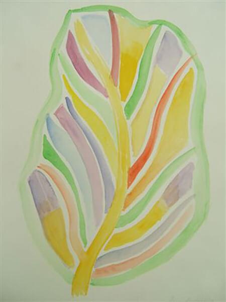 Abstrakt, akvarel