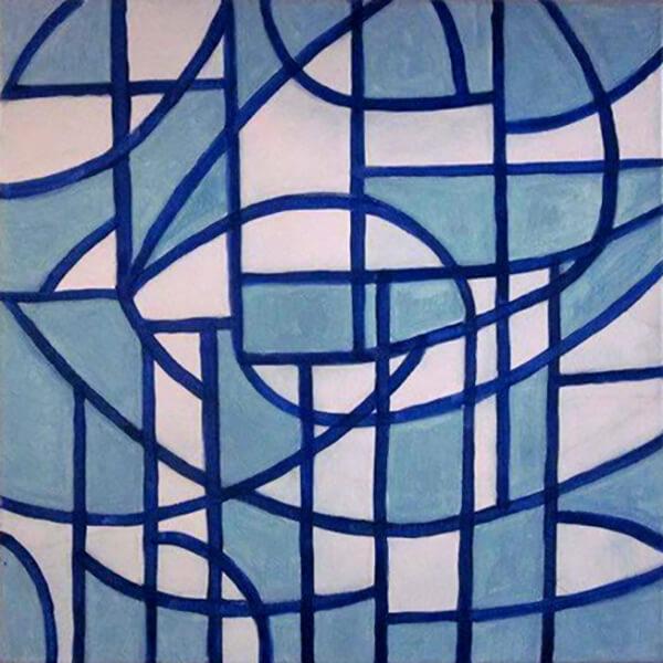 Abstrakt Gaudi, akryl
