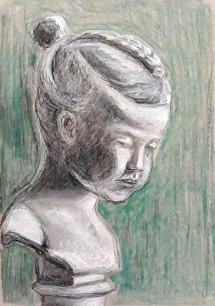 Pige - buste, kul og kridt