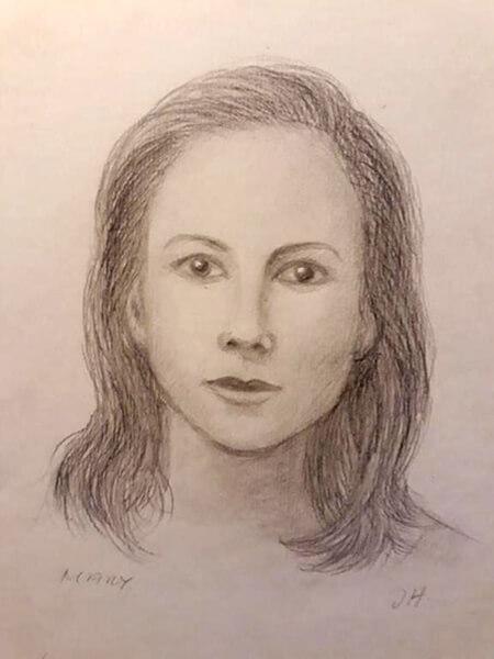 Portræt, Kronprinsesse Mary, blyant
