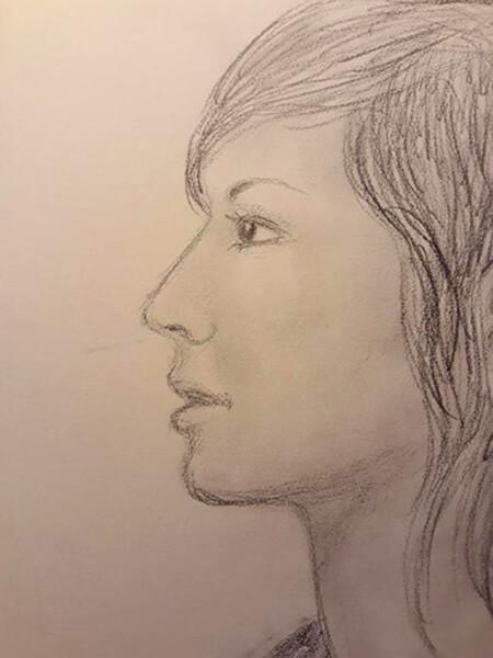 Profil, blyant (live)