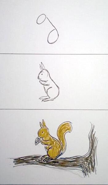 Sådan tegner man et egern