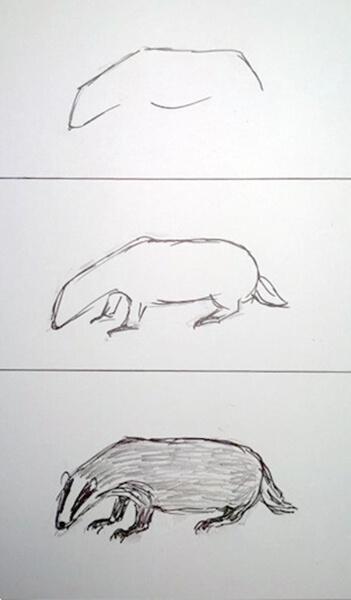 Sådan tegner man en grævling