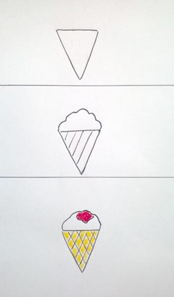 Sådan tegner man en isvaffel. Kræmmerhus