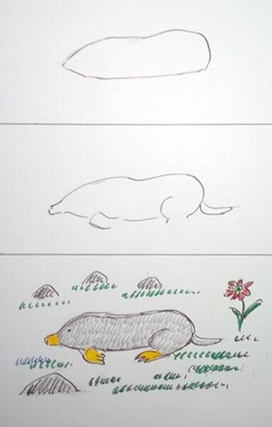 Sådan tegner man en mulvarp