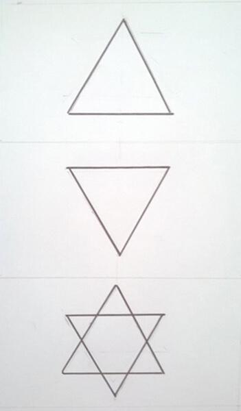 Sådan tegner du en sekskantet stjerne. Heksagram
