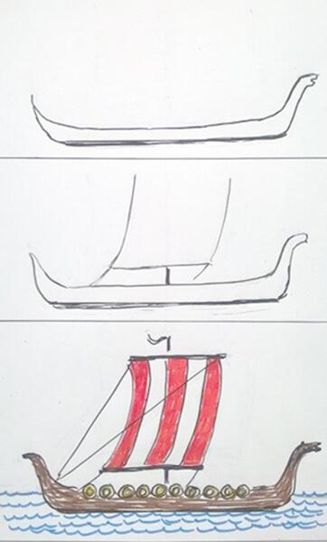 Sådan tegner man et vikingeskib