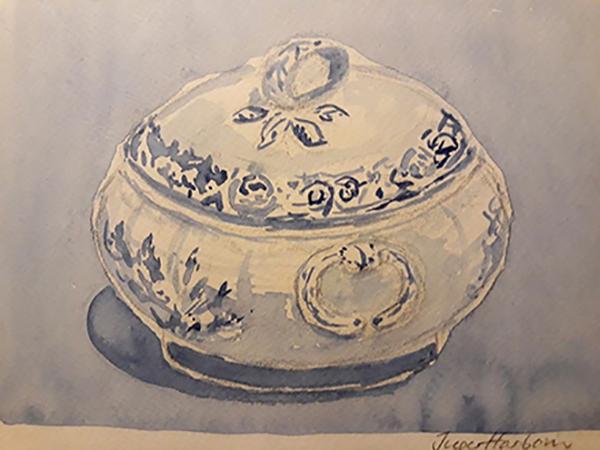 Suppeterrin, akvarel, ca. 2004