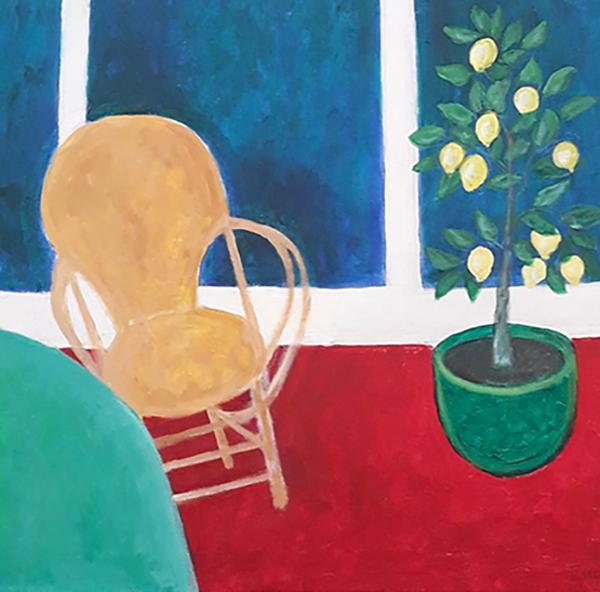 Mit atelier, corbusier stol, citrontræ, 2020