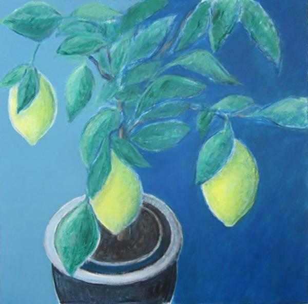 Citrontræ, akryl, ca. 2004
