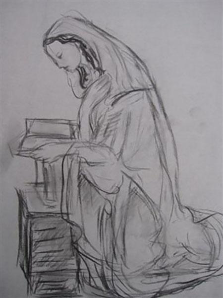 Nonne læser i biblen, kul, live