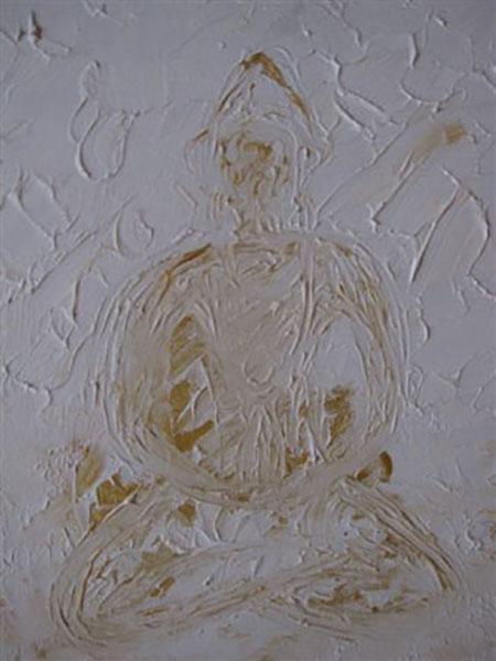 Buddha, akryl