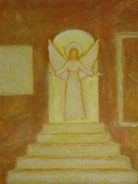 Lysets engel går med glans, akryl