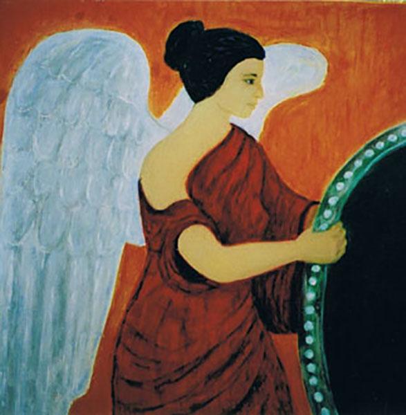 Engel, karmaengel, akryl